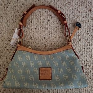 Dooney & Bourke Leather Trim Signature Fabric Bag